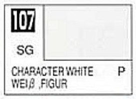 Gunze-Sangyo Solvent-Based Acrylic Semi-Gloss Character White 10ml Bottle (6/Bx)