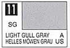 Gunze-Sangyo (bulk of 6) Solvent-Based Acrylic Semi-Gloss Light Gull Gray 10ml Bottle (6/Bx)