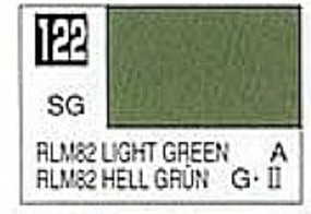 Gunze-Sangyo Solvent-Based Acrylic Semi-Gloss Light Green RLM82 10ml Bottle (6/Bx)