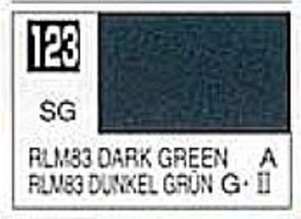 Gunze-Sangyo (bulk of 6) Solvent-Based Acrylic Semi-Gloss Dark Green RLM83 10ml Bottle (6/Bx)