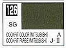 Gunze-Sangyo Solvent-Based Acrylic Semi-Gloss Cockpit Color Mitsubishi 10ml Bottle (6/Bx)