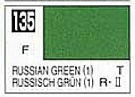 (bulk of 6) Solvent-Based Acrylic Flat Russian Green 1 10ml Bottle (6/Bx)