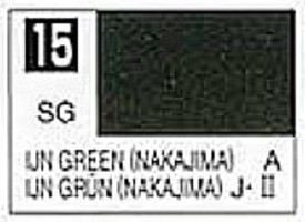 Gunze-Sangyo (bulk of 6) Solvent-Based Acrylic Semi-Gloss IJA Green Nakajima 10ml Bottle (6/Bx)