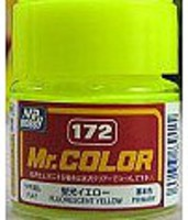 (bulk of 6) Solvent-Based Acrylic Gloss Fluorescent Yellow 10ml Bottle (6/Bx)