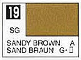 Gunze-Sangyo Solvent-Based Acrylic Semi-Gloss Sandy Brown 10ml Bottle (6/Bx)