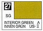Gunze-Sangyo Solvent-Based Acrylic Semi-Gloss Interior Green 10ml Bottle (6/Bx)