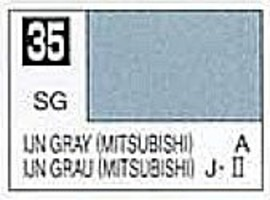 Gunze-Sangyo (bulk of 6) Solvent-Based Acrylic Semi-Gloss IJN Gray Mitsubishi 10ml Bottle (6/Bx)