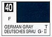 Gunze-Sangyo (bulk of 6) Solvent-Based Acrylic Flat German Gray 10ml Bottle (6/Bx)