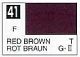 Gunze-Sangyo (bulk of 6) Solvent-Based Acrylic Flat Red Brown 10ml Bottle (6/Bx)