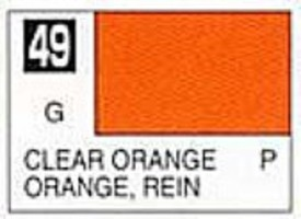 Gunze-Sangyo Solvent-Based Acrylic Gloss Clear Orange 10ml Bottle (6/Bx)