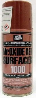 Gunze-Sangyo Mr. Oxide Red (Rust) Surfacer 1000 170ml (Spray)