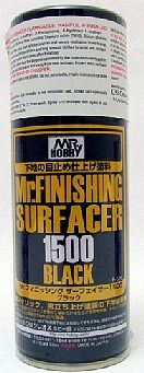 Gunze-Sangyo Mr. Finishing (Black) Surfacer 1500 170ml (Spray)