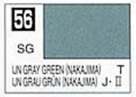 Gunze-Sangyo (bulk of 6) Solvent-Based Acrylic Semi-Gloss IJN Gray Green Nakajima 10ml Bottle (6/Bx)