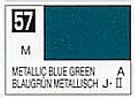 Gunze-Sangyo Solvent-Based Acrylic Metallic Blue Green 10ml Bottle (6/Bx)
