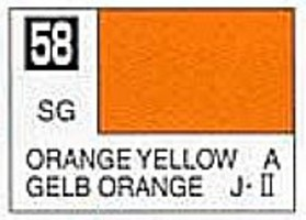 (bulk of 6) Solvent-Based Acrylic Semi-Gloss Orange Yellow 10ml Bottle (6/Bx)