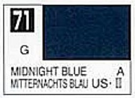 Gunze-Sangyo Solvent-Based Acrylic Gloss Midnight Blue 10ml Bottle (6/Bx)