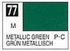 Gunze-Sangyo Solvent-Based Acrylic Metallic Green 10ml Bottle (6/Bx)
