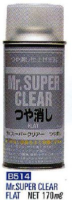 Gunze-Sangyo Mr. Super Clear Matt 170ml (Spray) -- Polycarbonate Model Paint -- #b514
