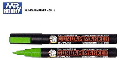 Gunze-Sangyo Mr. Hobby Gundam Marker Fluorescent Green Hobby Craft Paint Marker #gm15