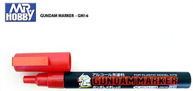 Gunze-Sangyo Mr. Hobby Gundam Marker Metallic Red Hobby Craft Paint Marker #gm16