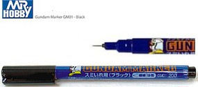 Gunze-Sangyo Mr. Hobby Gundam Marker Black Fine Line Hobby Craft Paint Marker #gm1
