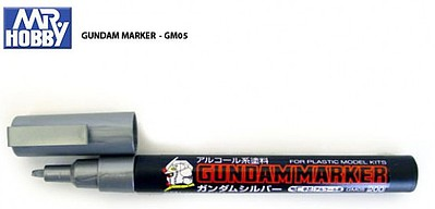 Gunze-Sangyo Mr. Hobby Gundam Marker Silver Hobby Craft Paint Marker #gm5