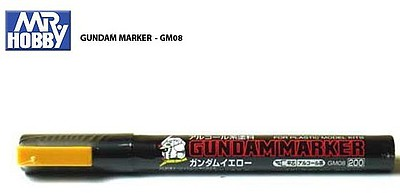 Gunze-Sangyo Mr. Hobby Gundam Marker Yellow Hobby Craft Paint Marker #gm8