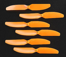 Grand-Wing 3.25x3 Prop 82x76mm Orange (6)