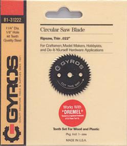 Gyros Products Co Ripsaw Circular 1-1/4'' Blade