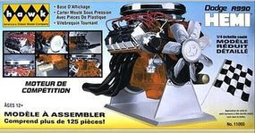 Hawk-Models Dodge A990 Hemi Engine (Painted Parts) Diecast Model Engine Kit 1/4 Scale #11055