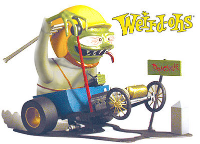 Hawk Models Weird-Oh's Figure Digger Way Out Dragster -- Plastic Model Figure Kit -- #16001