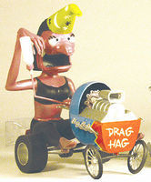 Hawk-Models Weird-Oh's Figure Drag Hag Bonny, Blastin' Babe Plastic Model Figure Kit #16003