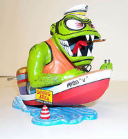 Hawk-Models Weird-Ohs Figure Leaky Boat Louie Vulgar Boatman Plastic Model Figure Kit #16008