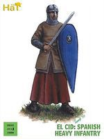 Hat El Cid Spanish Heavy Infantry Plastic Model Military Figure Set 28mm #28001