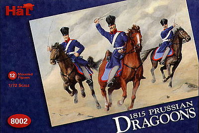 Hat Industries Figures Prussian Dragoons -- Plastic Model Military Figure Set -- 1/72 Scale -- #8002