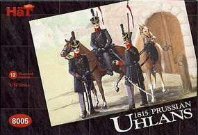 Hat Prussian Uhlans Plastic Model Military Figure Set 1/72 Scale #8005