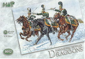 Hat Russian Dragoons Plastic Model Military Figure Set 1/72 Scale #8012