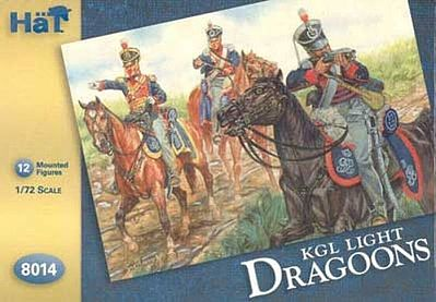 Hat Industries Figures KGL Light Dragoons -- Plastic Model Military Figure -- 1/72 Scale -- #8014