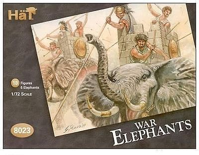 Hat Carthaginian War Elephants 1/72 Scale Plastic Model Military Figure #8023