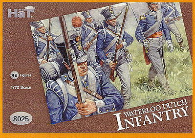 Hat Industries Figures Waterloo Dutch -- Plastic Model Military Figure Set -- 1/72 Scale -- #8025