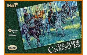 Hat French Chasseurs a Cheval Plastic Model Military Figure Set 1/72 Scale #8029
