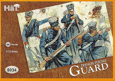 Hat Industries Figures Young Guard -- Plastic Model Military Figure Kit -- 1/72 Scale -- #8034