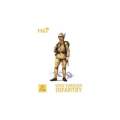 Hat Industries Figures WWI Ottoman Infantry -- Plastic Model Military Figure Kit -- 1/72 Scale -- #8070