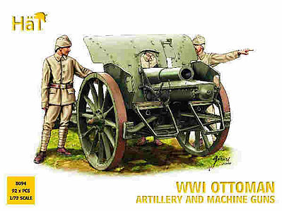 Hat WWI Ottoman Artillery and Machine Guns Plastic Model Military Figure Set 1/72 Scale #8094
