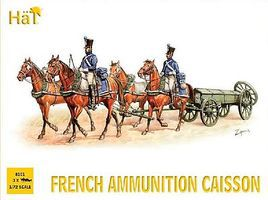 Hat French Ammunition Caisson Plastic Model Military Figure Set 1/72 Scale #8101