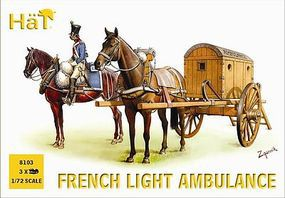 Hat French Light Ambulance Plastic Model Military Vehicle Kit 1/72 Scale #8103
