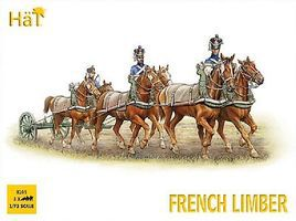 Hat French 6 Horse Limber Plastic Model Military Figure Kit 1/72 Scale #8105