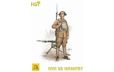 Hat WWI US Infantry Plastic Model Military Figure Set 1/72 Scale #8112