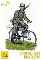 Hat WWII German Bicyclists Plastic Model Military Figure Set 1/72 Scale #8119