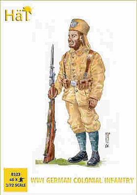 Hat WWI German Colonial Infantry Plastic Model Military Figure Set 1/72 Scale #8123